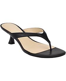 Wylda Kitten-Heel Thong Sandals