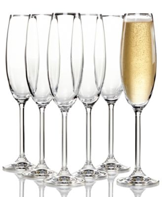 Tuscany Champagne Flutes 6 Piece Value Set