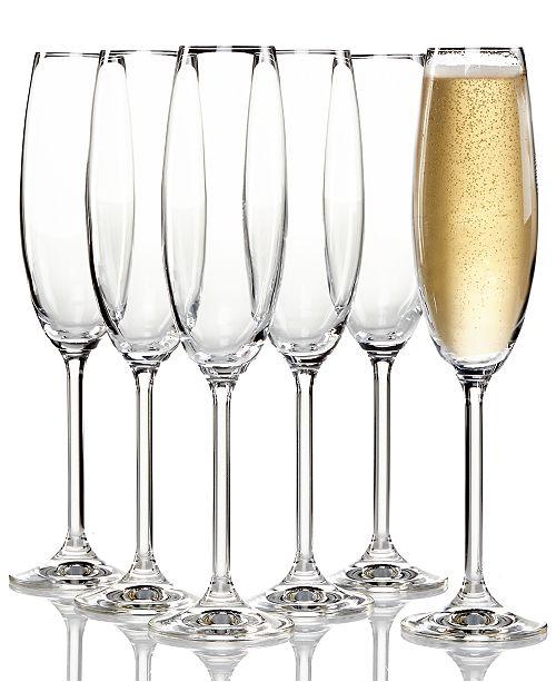 lenox tuscany champagne flutes 6 piece value set glassware