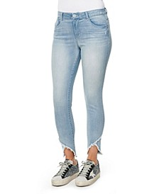 "Women's ""Ab"" Solution High Rise Tulip Hem Jeans"