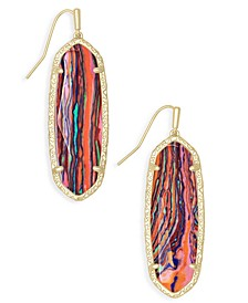 14k Gold-Plated Stone Drop Earrings