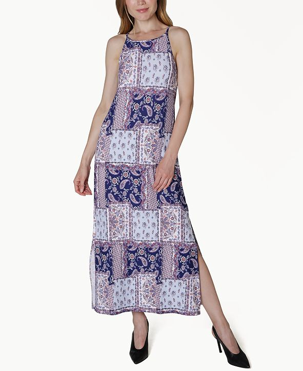 Ultra Flirt Juniors' Printed Maxi Dress