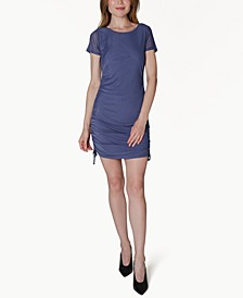 Juniors' Ruched Shift Dress