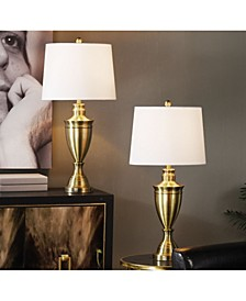 Brass Table Lamp Set, Pack of 2