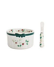 CLOSEOUT! Winterberry Bowl Dip Mix Set with Spreader