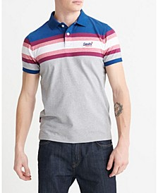 Organic Cotton Malibu Stripe Men's Polo Shirt
