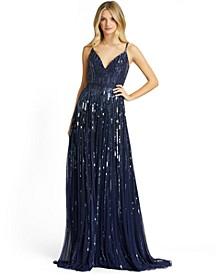 Sleeveless Embellished Gown