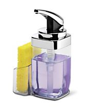 simplehuman 22-Oz. Square Push Pump Soap Dispenser with Caddy