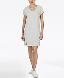 Plus Size Short Sleeve V-Neck Knit Dress