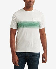 Men's Sunset Chest Stripe Pocket Crew Neck T-shirt