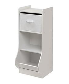 Upright Storage Nook with Reversible Basket