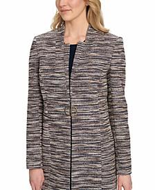 Striped Knit Suit Jacket