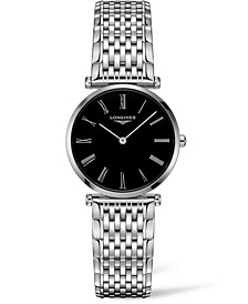 Women's Swiss La Grande Classique De Longines Stainless Steel Bracelet Watch 29mm