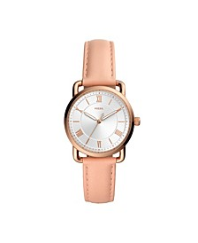 Women's Copeland Blush Leather Strap Watch 34mm
