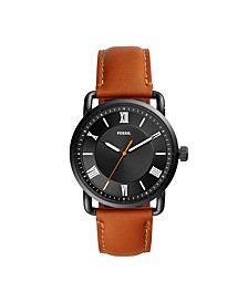 Men's Copeland Brown Leather Strap Watch 42mm