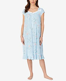 Floral Print Knit Waltz Nightgown
