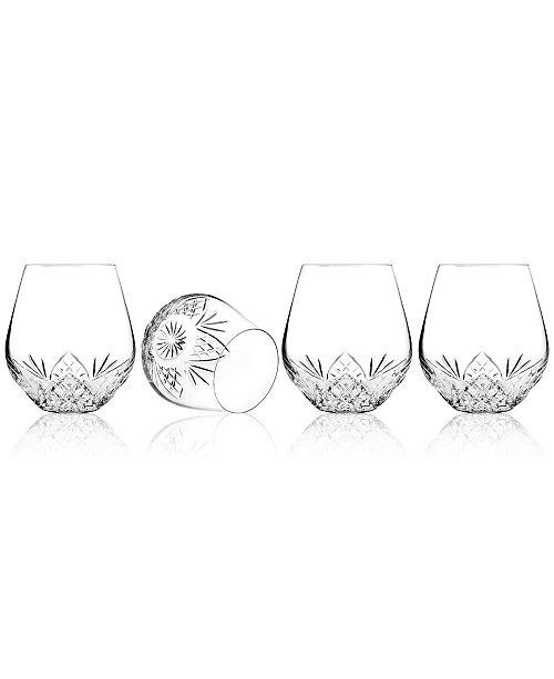 Godinger Barware, Dublin Set of 4 Stemless Goblets