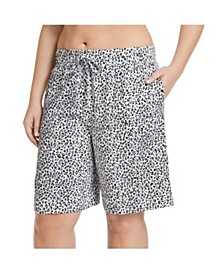 Plus Size Cotton Bermuda Sleep Shorts
