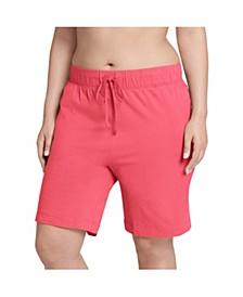 Plus Size Cotton Bermuda Sleep Shorts
