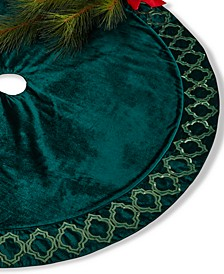 Green Sequin Border Tree Skirt, Created for Macy's