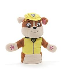 """GUND Rubble Hand Puppet Plush Stuffed Animal Dog, Yellow, 11"""""""