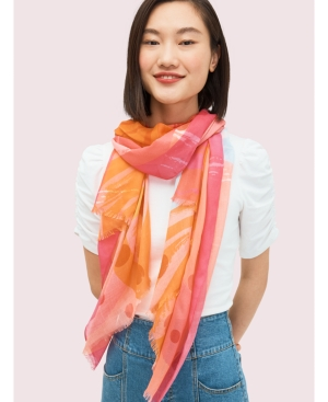 kate spade new york Abstract Cocktail Oblong Scarf