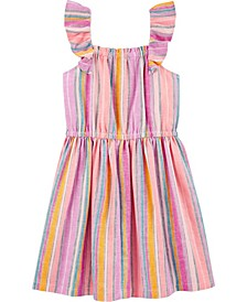 Big Girls Rainbow-Stripe Dress