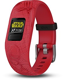Kid's vivofit jr. 2 Dark Side Red Silicone Strap Touchscreen Smart Watch 43mm