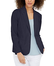 Organic Notched-Collar Double-Button Jacket