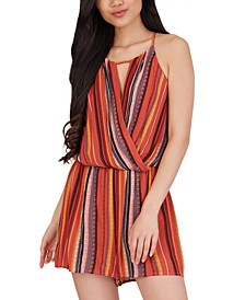 Juniors' Sedona Striped Romper