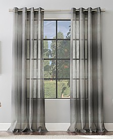 "Atlantic 52"" x 84"" Ombre Stripe Sheer Curtain Panel"