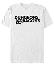 Men's Dungeons And Dragons Stacked Text Logo Short Sleeve T-Shirt