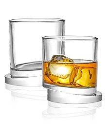 Aqua Vitae Off Base Round Whiskey Glasses, Set of 2
