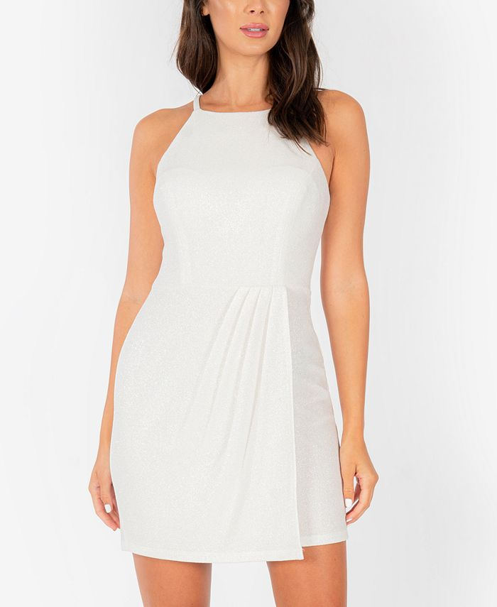 Speechless - Lace-Back Shiny Bodycon Dress
