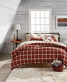 Autumn Plaid Cotton Flannel Reversible Full/Queen Comforter Set