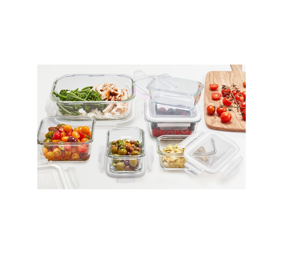 Martha Stewart Collection 12-Pc. Glass Food Storage Set, Created for Macy's