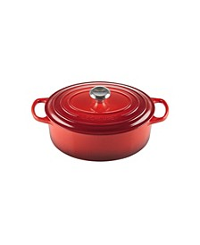 5-Qt. Signature Enameled Cast Iron Oval Dutch Oven