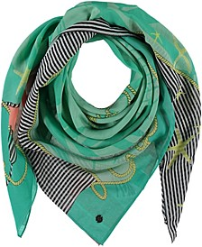 Love by the Sea Sqaure Scarf