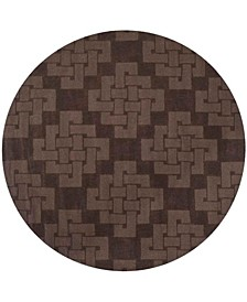 Knot MSR4950F Chocolate 8' x 8' Round Area Rug