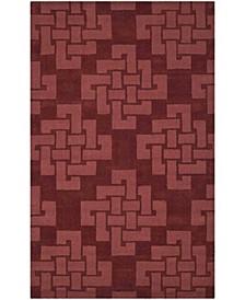 Knot MSR4950D Burgundy 8' x 8' Round Area Rug