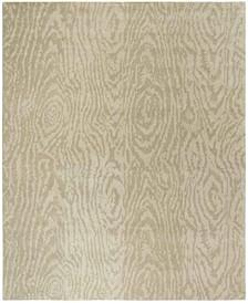 Layered Faux Bois MSR4534B Beige 8' x 10' Area Rug