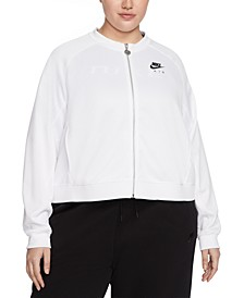 Plus Size Nike Air Zip-Front Logo Jacket