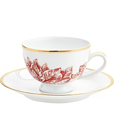 Poinsettia Teacup & Saucer 8-Pc. Set, Created for Macy's