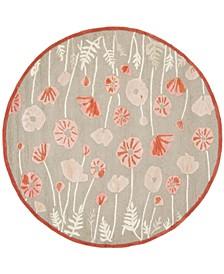 Poppy Glossary MSR3627B Terracotta 6' x 6' Round Area Rug