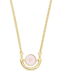 14K Gold Plated Ava Petite Initial Enamel Necklace