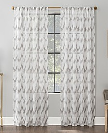 Santo Ikat Print Sheer Curtain Collection