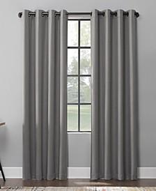 Mavis Herringbone 100% Blackout Grommet Curtain Panel