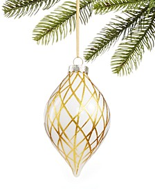 Black Tie, Gold Glass Ornament, Created for Macy's