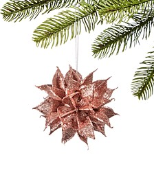 Burgundy & Blush Glittered Floral Ball Ornament, Created for Macy's
