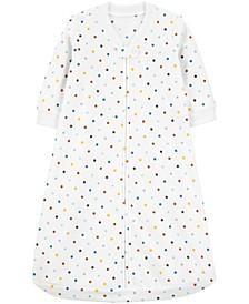 Baby Girls Dot-Print Fleece Sleep Bag